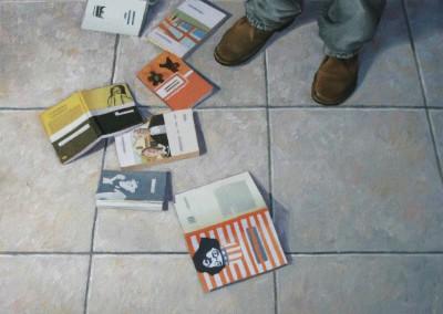 Il pavimento del poeta_2009_olio su tela_30x30cm-