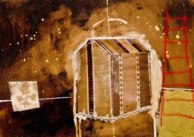 di oro in ora 2011 - tecnica mista e collage su tela 30x20 (5)