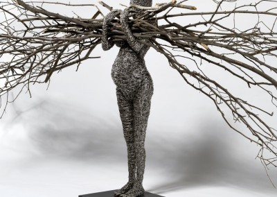 in fieri (particular high resolution)2014, oxidized wire and branches, cm 175x50x300