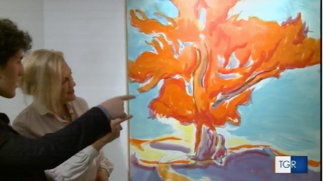 la mostra di Aldo Pecoraino sul TG Regione