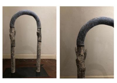 Barbara Aloisio - Salice bianco, dalla serie alberi - terra semirefrattaria Naked raku, 2019, 50x20x72cm