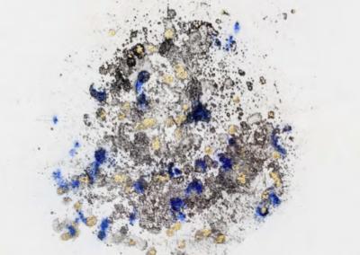 Paki Paola Bernardi - impronta, maniera a zucchero e foglia oro, 24x32cm, 2017