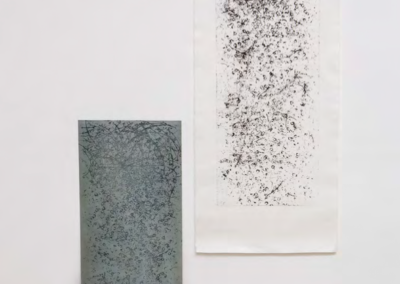 Paki Paola Bernardi - tempi intermittenti 004, acquaforte stampa su carta Washi, 35x100cm 2018